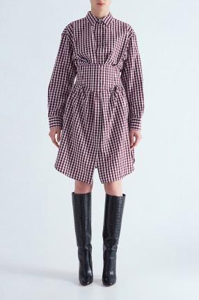 MO&CO Платье-рубашка в клетку