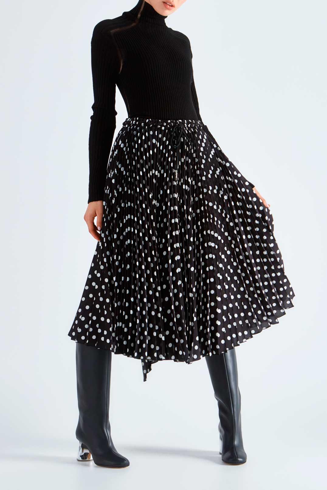 Плиссированная юбка в горох MARC JACOBS MJp29016