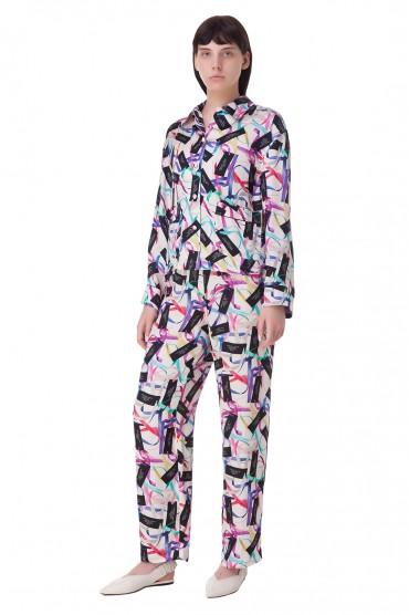 Укороченные брюки с принтом MARC JACOBS MJw10013