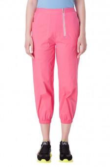 Укороченные брюки с эластичным поясом
