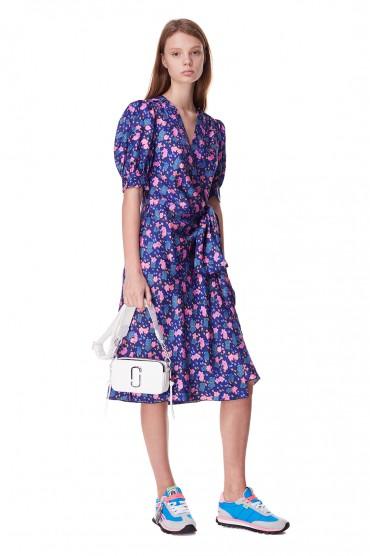 Платье на запах с принтом MARC JACOBS MJw10016