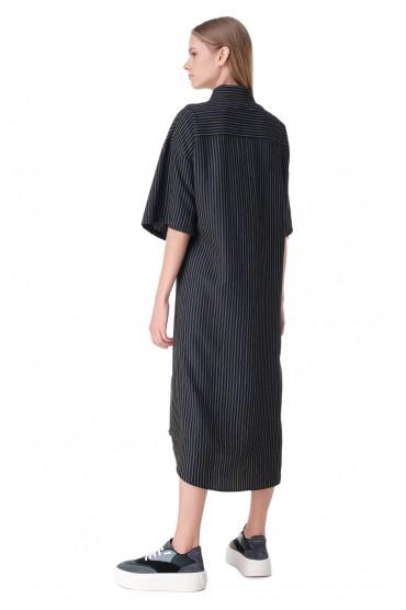 Платье-рубашка в полоску MM6 MAISON MARGIELA MM611004