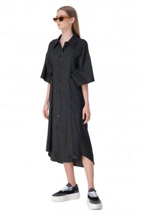 MM6 MAISON MARGIELA Платье-рубашка в полоску