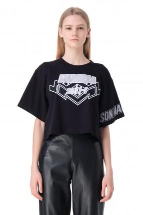 MM6 MAISON MARGIELA Укороченная футболка с принтом