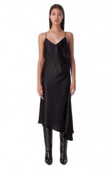 Асимметричное платье-комбинация