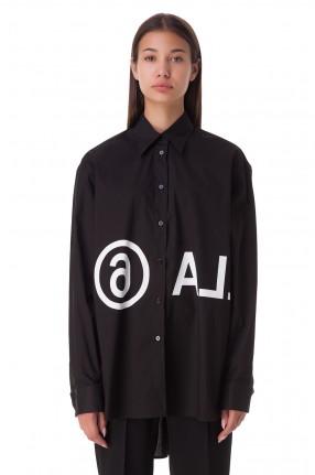 MM6 MAISON MARGIELA Рубашка oversize c логотипом