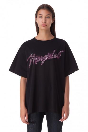 Футболка oversize с логотипом MM6 MAISON MARGIELA MM620009