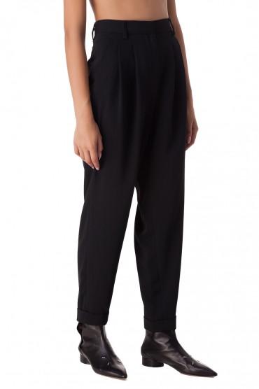 Укороченные брюки с защипами MM6 MAISON MARGIELA MM620012
