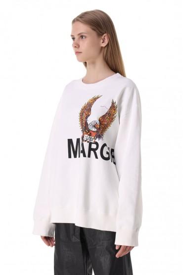 Свитшот oversize с принтом MM6 MAISON MARGIELA MM621011