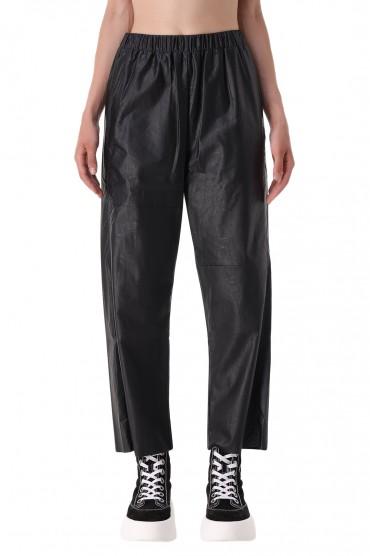 Укороченные брюки из эко-кожи MM6 MAISON MARGIELA MM621014