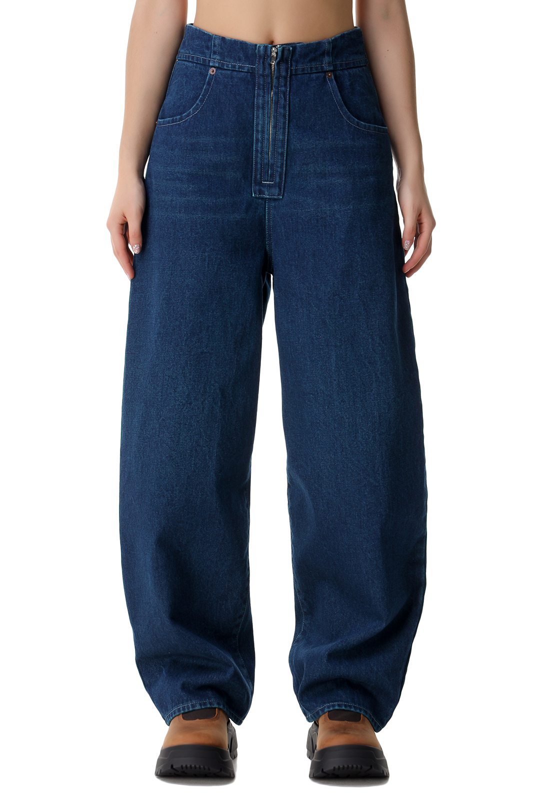 Удлиненные джинсы MM6 MAISON MARGIELA MM621021
