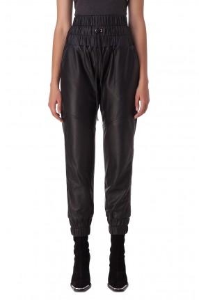 MARISSA WEBB Кожаные брюки с эластичным поясом