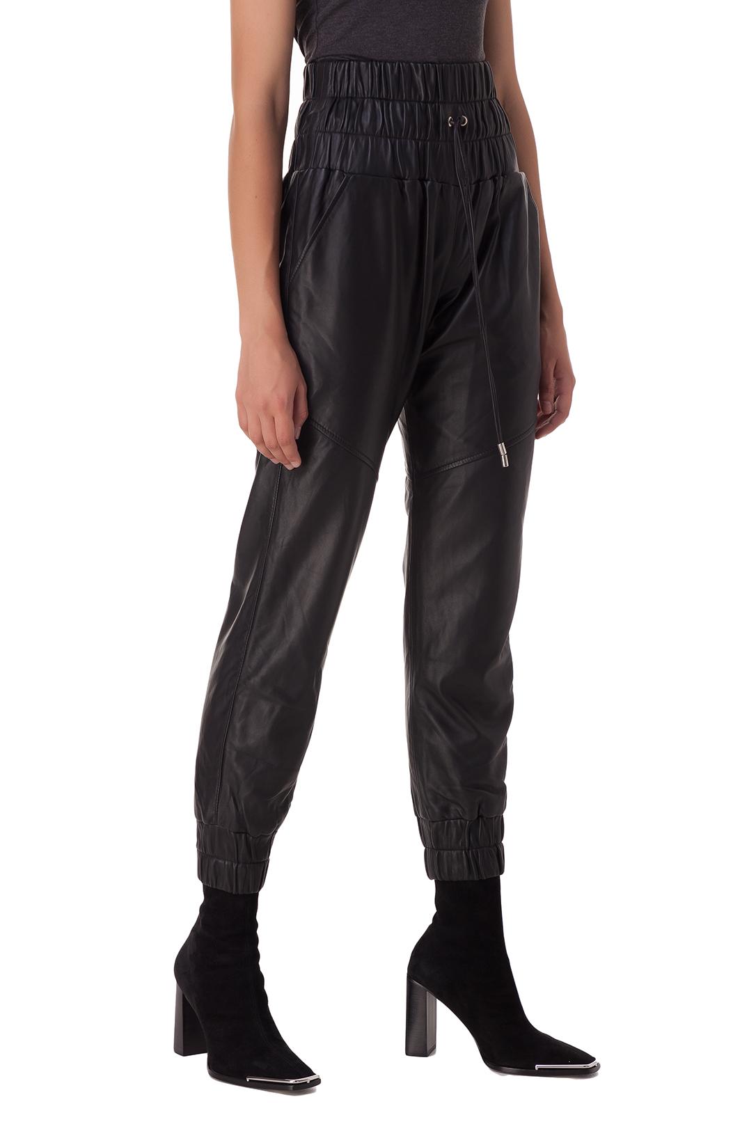 Кожаные брюки с эластичным поясом MARISSA WEBB MWp20003