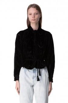 Блуза со съемным поясом
