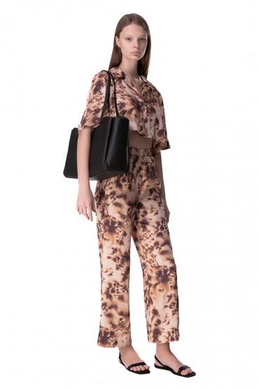 Укороченные брюки с принтом NANUSHKA NANp10020