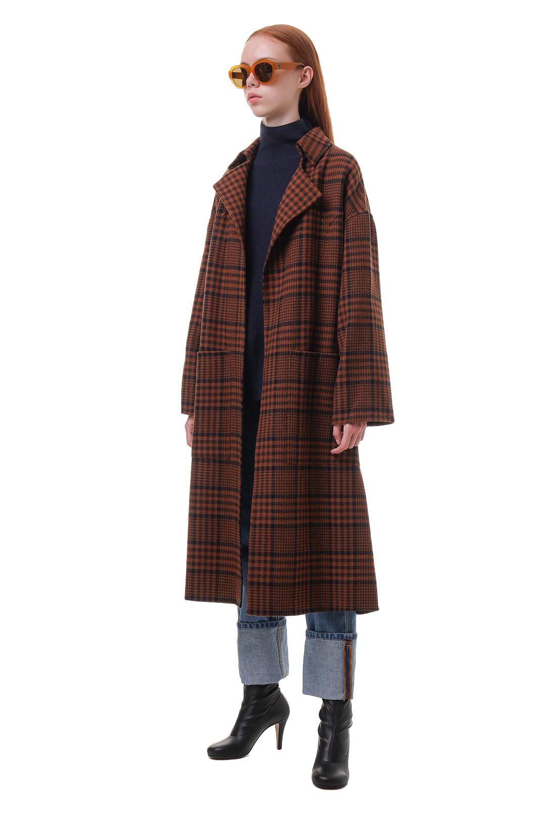 Пальто oversize в клетку NANUSHKA NANp20012