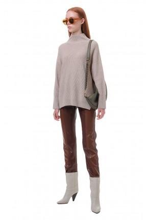 NANUSHKA Укороченные брюки из эко-кожи