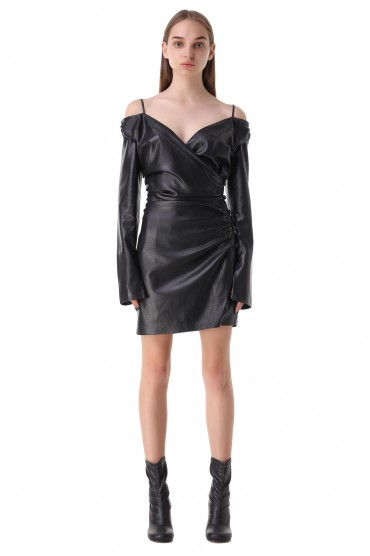 Платье из эко-кожи NANUSHKA NANp21002