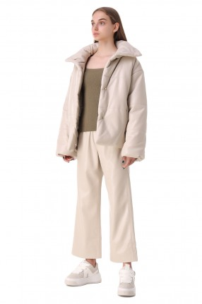 NANUSHKA Стеганая куртка из эко-кожи