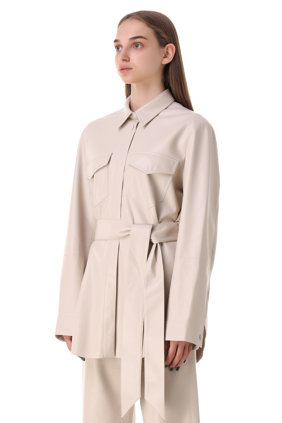 Рубашка из эко-кожи NANUSHKA NANp21013