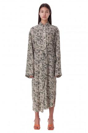 NANUSHKA Платье-рубашка с принтом