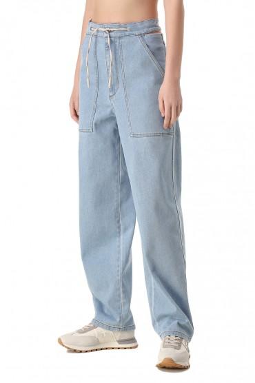 Удлиненные джинсы NANUSHKA NANw11013