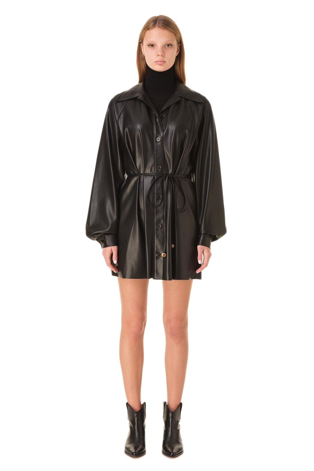 Платье-рубашка из эко-кожи NANUSHKA NANw20001