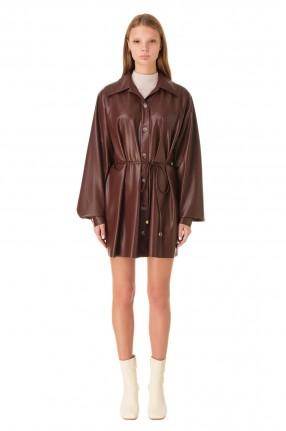 NANUSHKA Платье-рубашка из эко-кожи