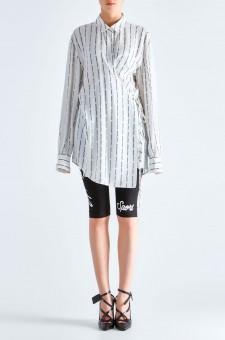 Блуза oversize с принтом