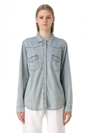 Джинсовая рубашка ONE TEASPOON OTS11033