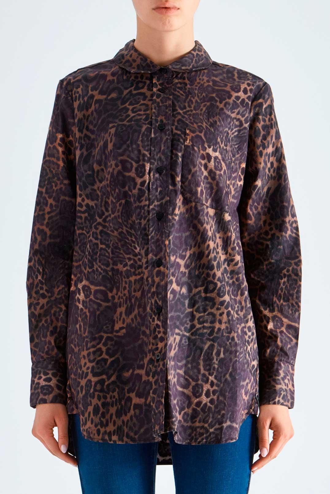Рубашка с анималистическим принтом ONE TEASPOON OTS29005