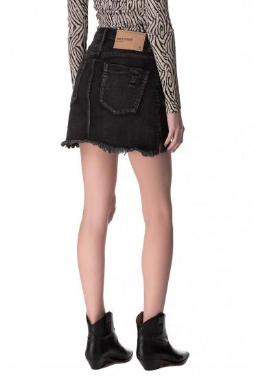 Джинсовая юбка с эффектом потертостей ONE TEASPOON OTSp10017