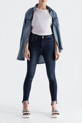 ONE TEASPOON Укороченные джинсы с эффектом потертостей