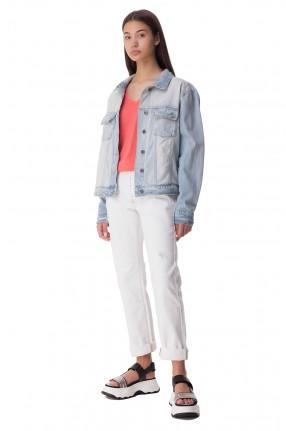 ONE TEASPOON Джинсовая куртка с эффектом потертостей
