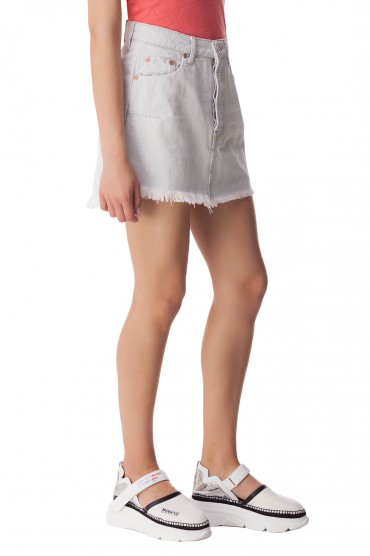 Джинсовая юбка с эффектом потертостей ONE TEASPOON OTSw10016