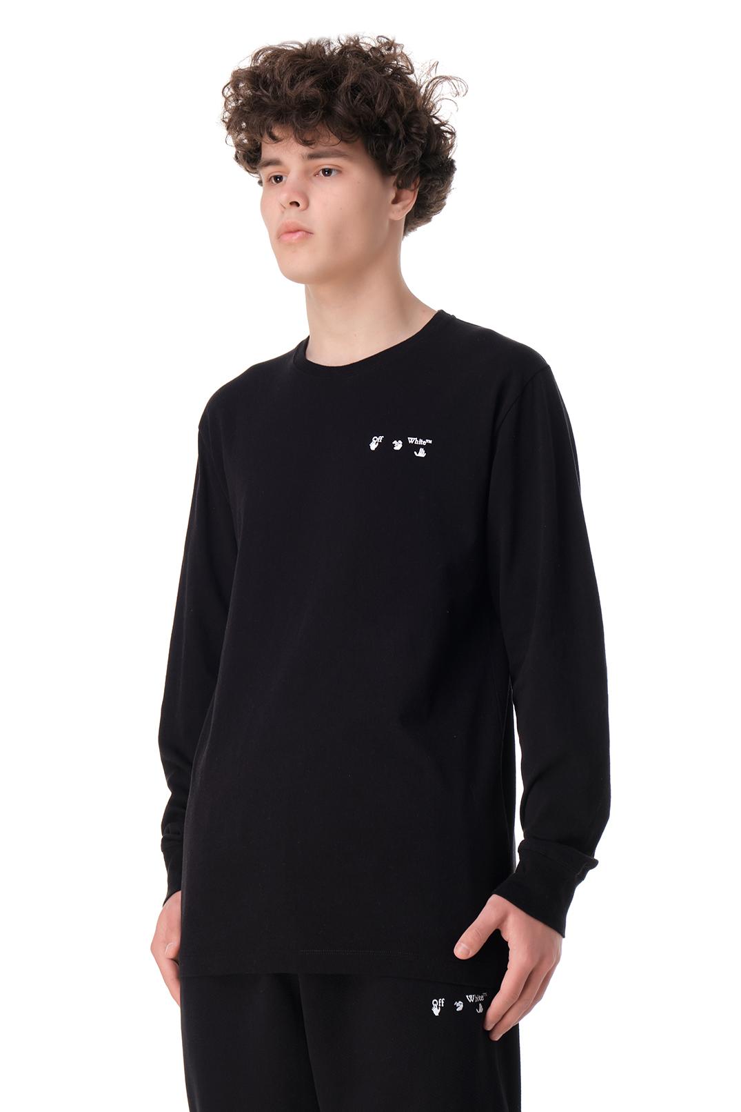 Лонгслив oversize c логотипом OFF-WHITE OWm11009