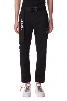 Укороченные брюки с регулируемым ремнем