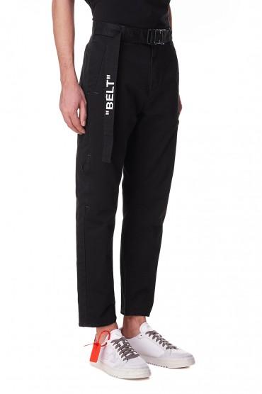 Укороченные брюки с регулируемым ремнем OFF-WHITE OWmp10017