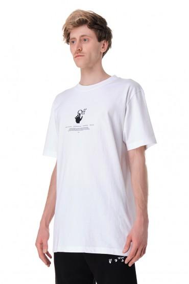 Футболка oversize с принтом OFF-WHITE OWmp11008