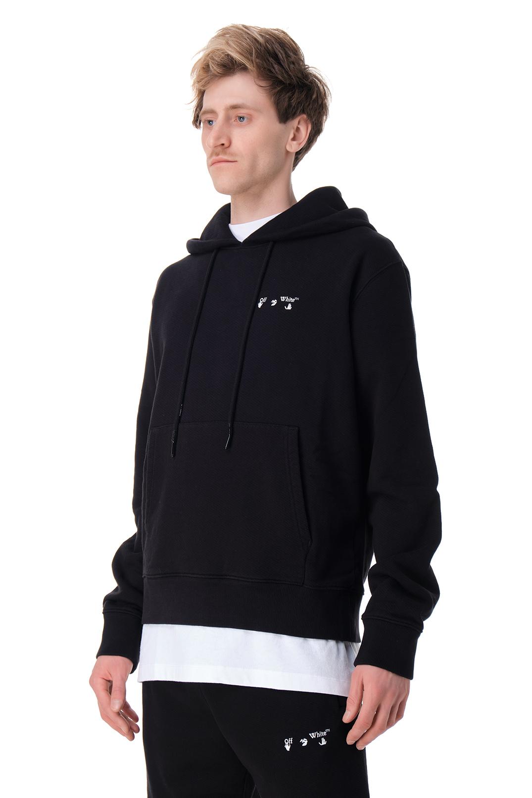 Худи oversize с логотипом OFF-WHITE OWmp11009
