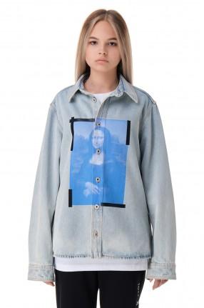 OFF-WHITE Джинсовая рубашка с принтом
