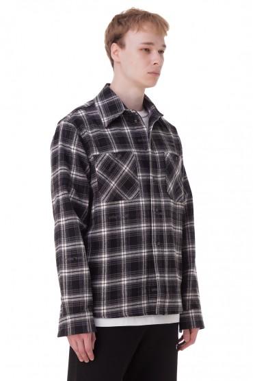 Рубашка oversize в клетку OFF-WHITE OWmp20013