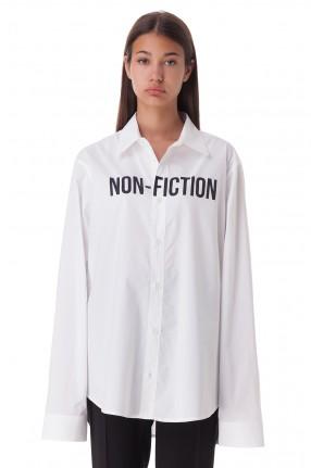 OFF-WHITE Рубашка oversize с принтом
