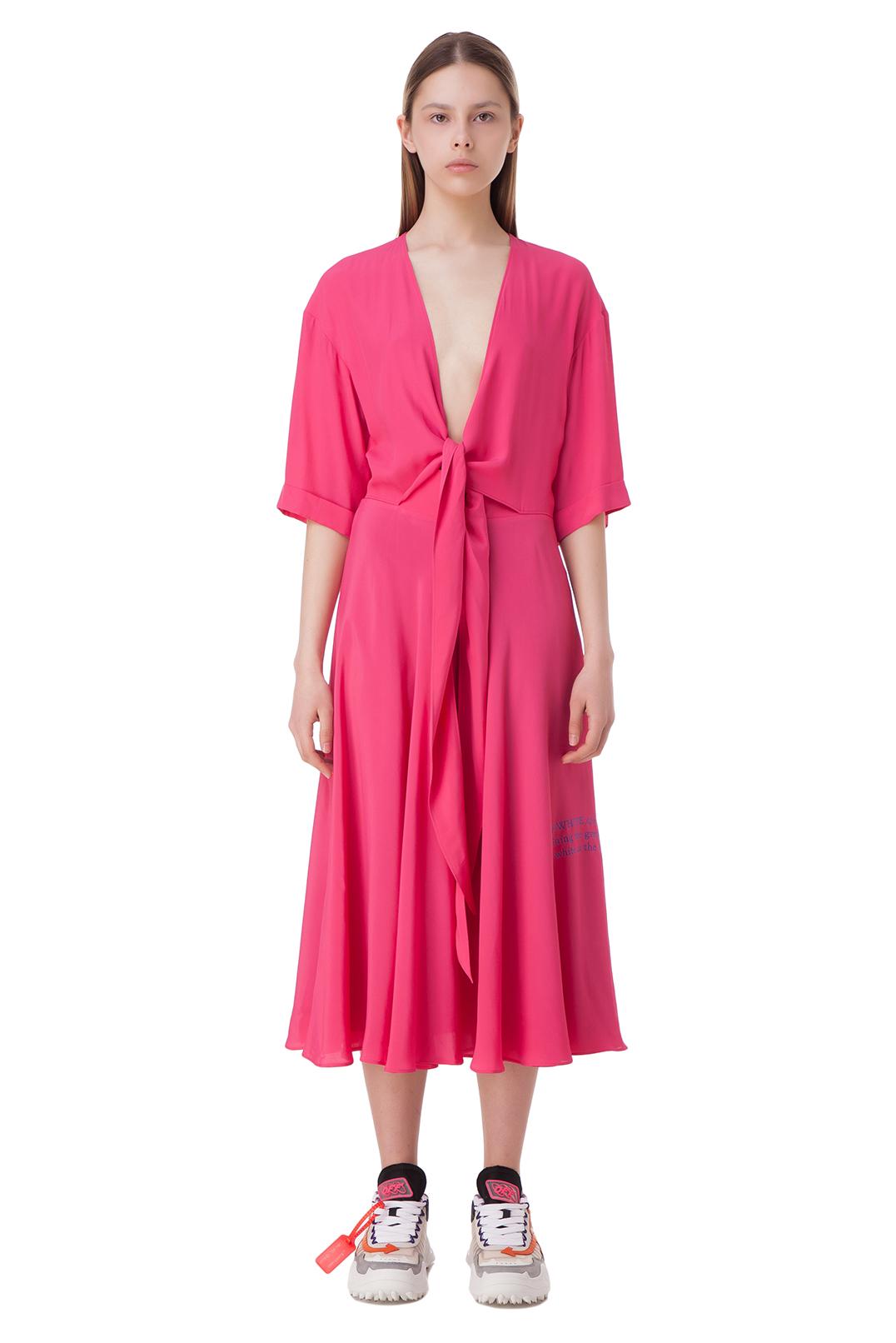 Платье с завязками OFF-WHITE OWw10009