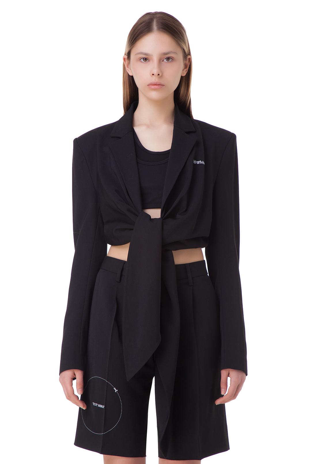 Укороченный пиджак на завязках OFF-WHITE OWw10013