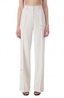 Удлиненные брюки с принтом