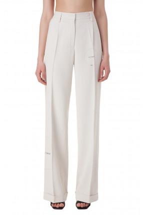 OFF-WHITE Удлиненные брюки с принтом