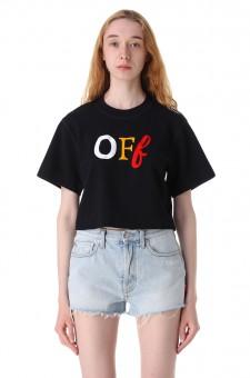 Укороченная футболка с логотипом