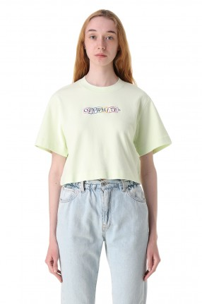 OFF-WHITE Укороченная футболка с логотипом