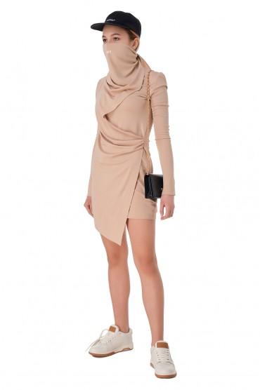 Асимметричное платье OFF-WHITE OWw11016
